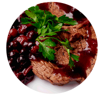biftek u sosu od šumskog voća