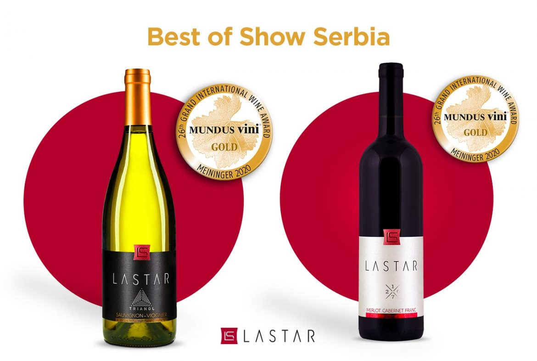 Priznanje Best of Show i dve zlatne medalje za vinariju Lastar